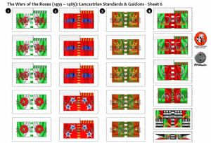 BFL3200c2  The Wars of the Roses (1455 - 1485): Lancastrian Rectangular Guidons - Sheet 6